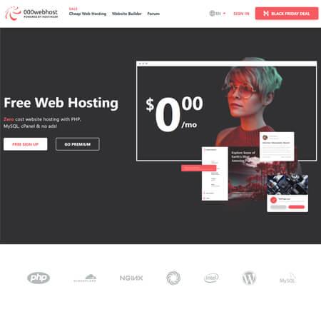 000WebHost.com website