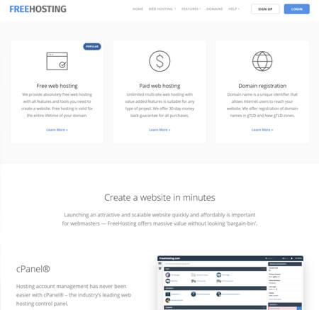 FreeHosting.com website