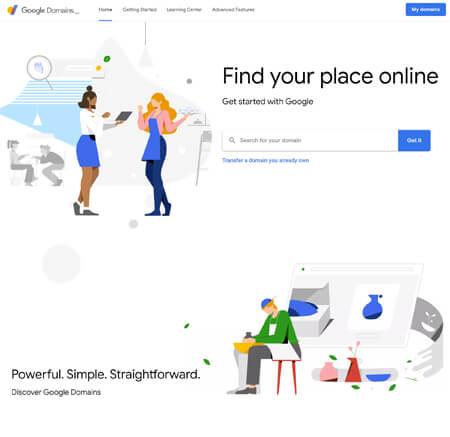 Domains.Google website