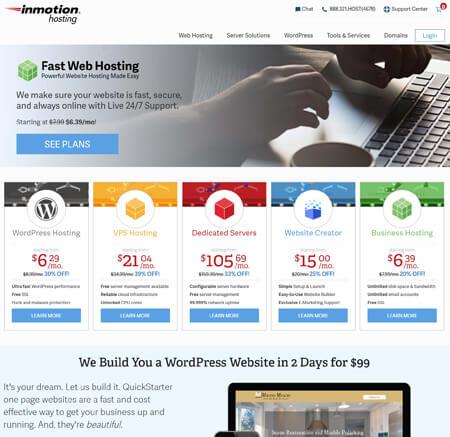 InMotionHosting.com website