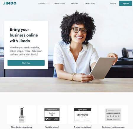 Jimdo.com website