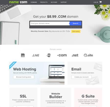 Name.com website