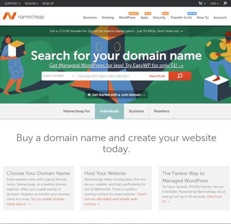 NameCheap.com website