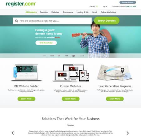 Register.com website