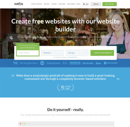 Webs.com website